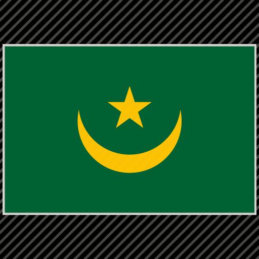 country, flag, mauritania, mauritania flag, national, national flag, world flag icon