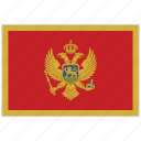 country, flag, montenegro, montenegro flag, national, national flag, world flag icon