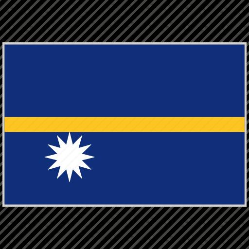 country, flag, national, national flag, nauru, nauru flag, world flag icon