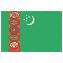 country, flag, national, national flag, turkmenistan, turkmenistan flag, world flag