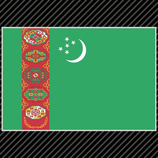 country, flag, national, national flag, turkmenistan, turkmenistan flag, world flag icon