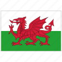 country, flag, national, national flag, wales, wales flag, world flag icon