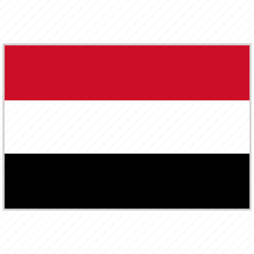 country, flag, national, national flag, world flag, yemen, yemen flag icon