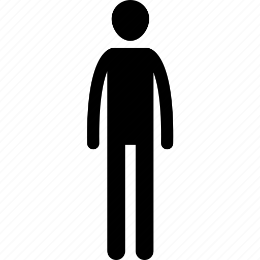 man, skinny, tall icon