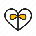 gift, heart, love, valentine day icon