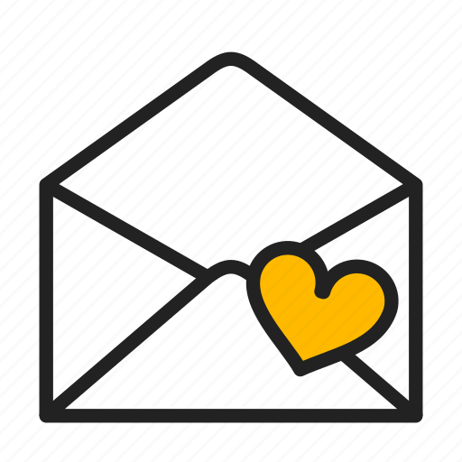 envelope, heart, love, mail icon