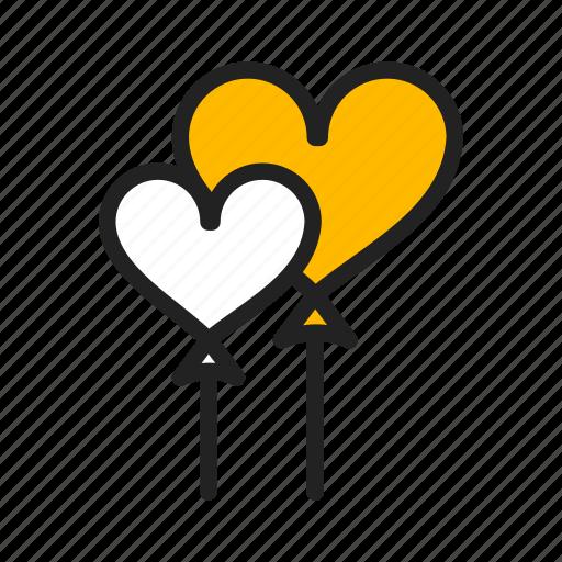 balloon, heart, love, romance, valentine day icon