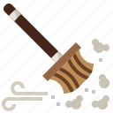 household, archeologist, cleaning, dust, furniture, brush, clean icon