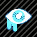allergy, conjunctivitis, eye, symptom icon