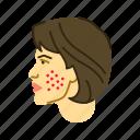 face, rash, skin icon