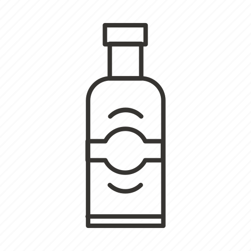 absolute vodka, alcohol, bottle, drink icon