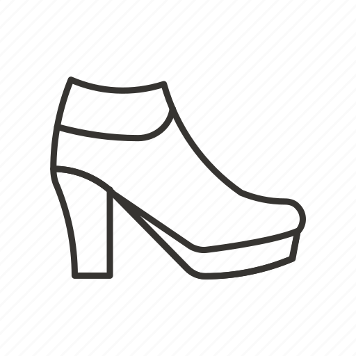 ankle, boot, boots, footwear, heel, shoe, spike icon