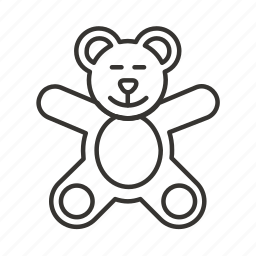 animal, baby, bear toy, teddy, toys icon