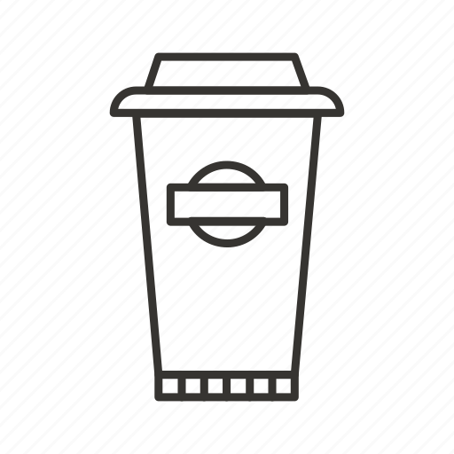 coffee, glass, paper, paper cup, takeaway icon