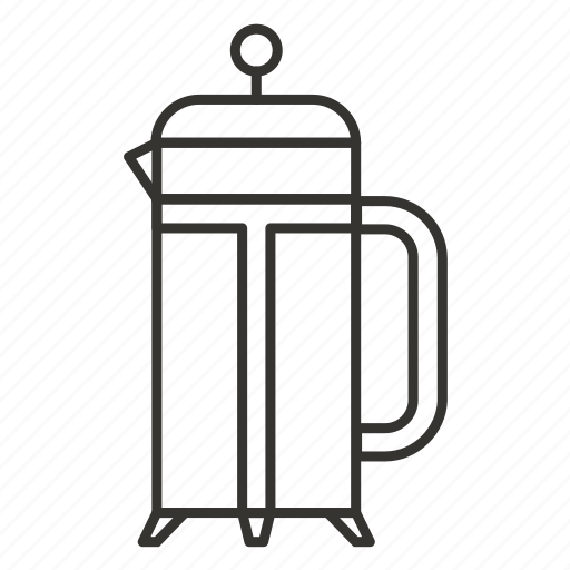 brew, coffee, french press, frenchpress, press, tea, teapot icon