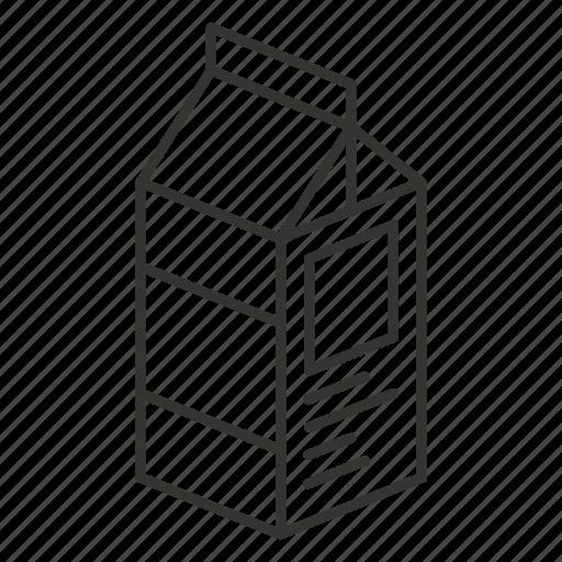 carton, milk, packaged, pulp, yogurt icon