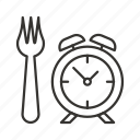 clock, eat, food, lunch time, schedule, timer, watch icon