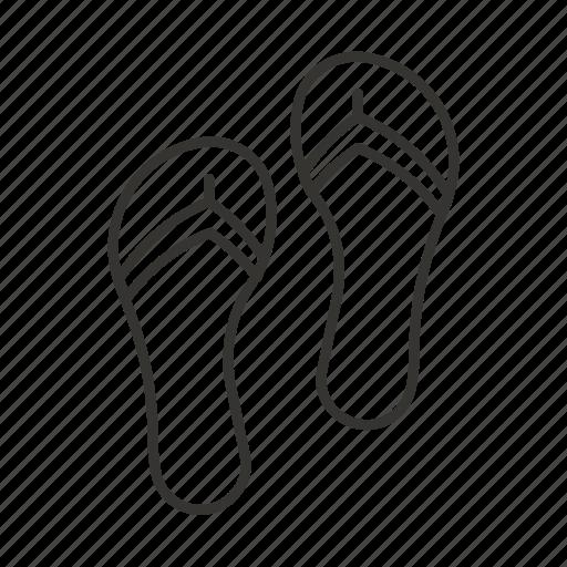 beach, flip flops, footwear, slates, summer icon