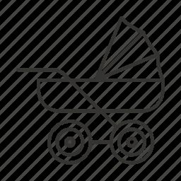 baby, carriage, child, newborn, pram, stroller icon
