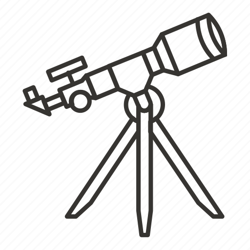 astronomy, lens, space, telescope, view icon