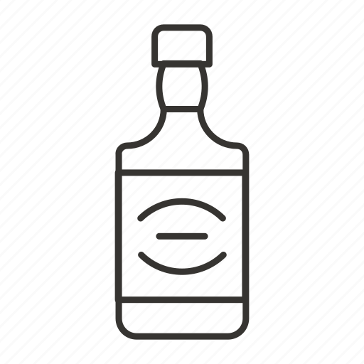 alcohol, beverage, drink, glass, jack daniels, whiskey bottle icon