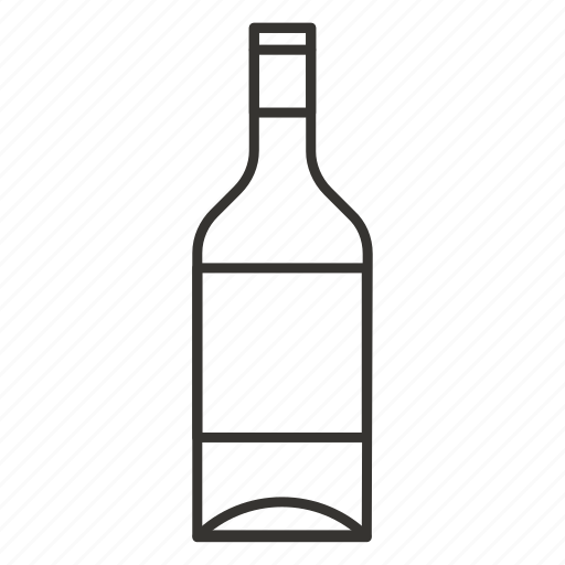 alcohol, beverage, drink, glass, wine bottle icon