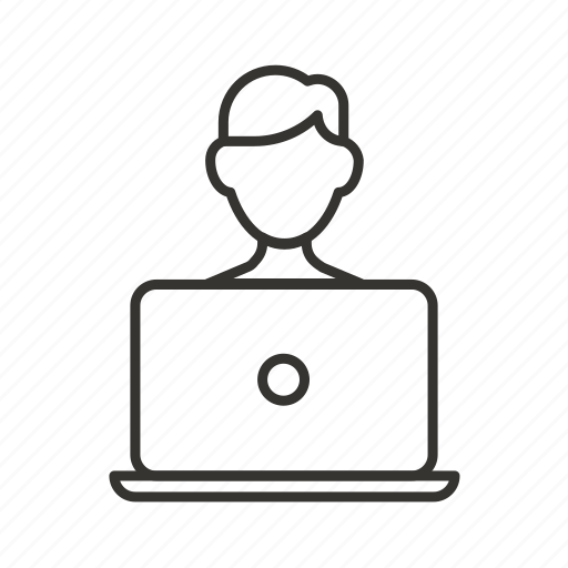 coder, man, manager, user, work, worker icon