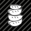 aloe, fresh, natural, pieces, slices icon