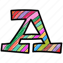a, alphabet letter a, capital letter, capital letter a, colored alphabet icon