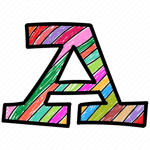 a, alphabet letter a, capital letter, capital letter a, colored alphabet icon