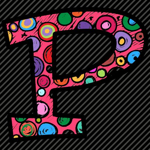 alphabet letter p, capital letter, capital letter p, colored alphabet, p icon