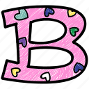 alphabet letter b, b, capital letter, capital letter b, colored alphabet icon