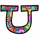 alphabet letter u, capital letter, capital letter u, colored alphabet, u icon