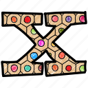 alphabet letter x, capital letter, capital letter x, colored alphabet, x icon