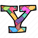 alphabet letter y, capital letter, capital letter y, colored alphabet, y icon