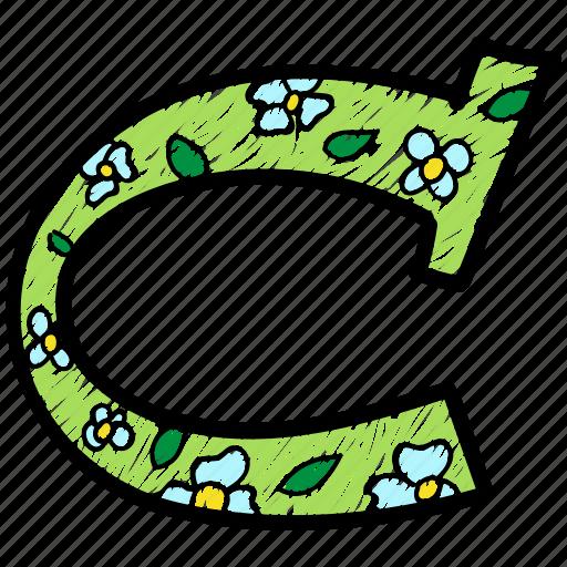 alphabet letter c, c, capital letter, capital letter c, colored alphabet icon