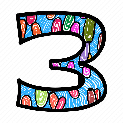 counting, number, numeric, numerical digit, three icon