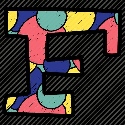 alphabet letter f capital letter, capital letter f, colored alphabet, f icon