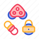 detail, equipment, movement, rollers, rope icon