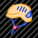 alpinism, equipment, helmet, protection icon