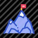 alpinism, flag, mountain, peak icon