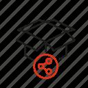 box, consumption, product, service, share icon