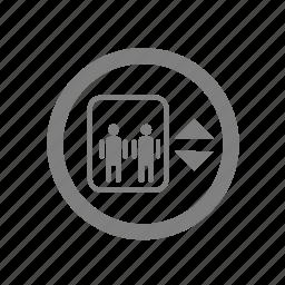 amenities, elevator, hotel, lift icon