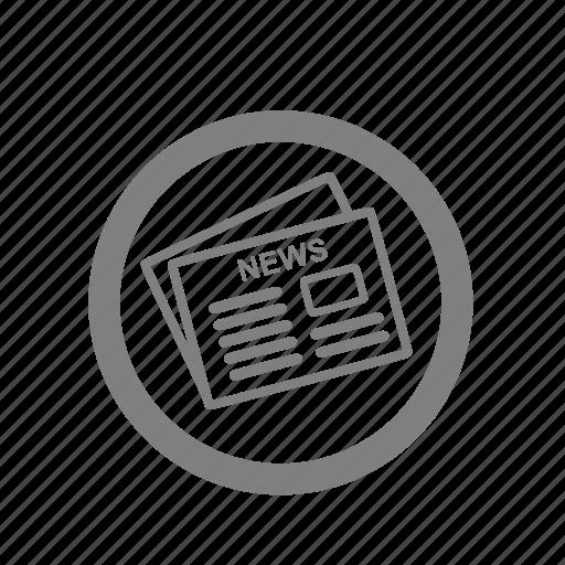 amenities, news, newspaper, paper icon