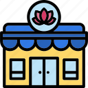 spa, lotus, flower, relax, store, building