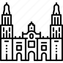 architecture, basilica, central america, landmark, metropolitan cathedral, mexico city