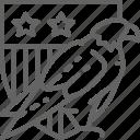 arm, eagle, shield, usa, america, arms, coat icon