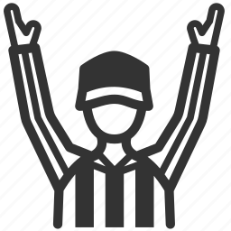 american football, official, referee, sign, touchdown, umpire icon