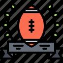 american, badge, football, rugby, sport, win, winner icon
