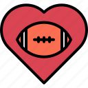 american, ball, football, heart, love, rugby, sport